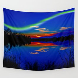 North light over a lake Wall Tapestry