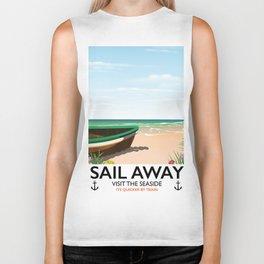 Sail away Biker Tank