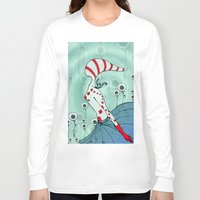flight Long Sleeve T-shirts featuring flight by DanilaTrubarova