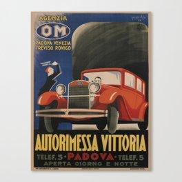 Vintage poster - Autorimessa Vittoria Canvas Print