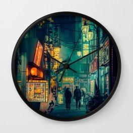 Tokyo Nights / Memories of Green / Blade Runner Vibes / Cyberpunk / Liam Wong Wall Clock