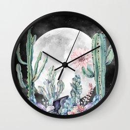 Desert Nights Gemstone Oasis Moon Night Wall Clock