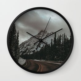 Mountain Road Wall Clock