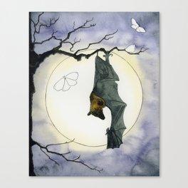 Moonlight Bat Canvas Print