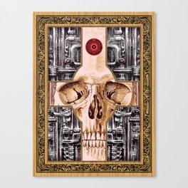 Cross Skull H.R.Giger Style Canvas Print