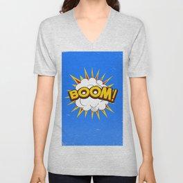 BOOM! limited edition Blue edition Unisex V-Neck