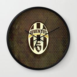 FC Juventus metal background Wall Clock