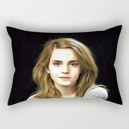 Emma Watson - Celebrity Art Rectangular Pillow