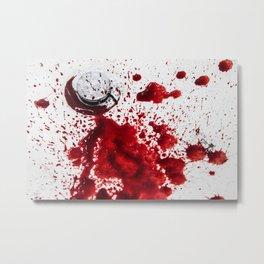 Blood in the Sink Metal Print