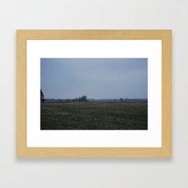 Night Field Framed Art Print