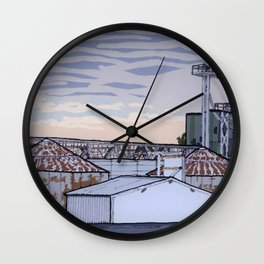 The Mill at Sunset Wall Clock