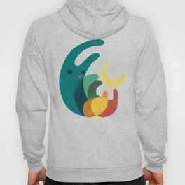Rabbit and crescent moon Hoody