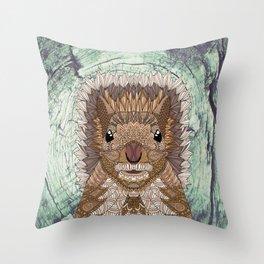Ornate Squirrel Throw Pillow