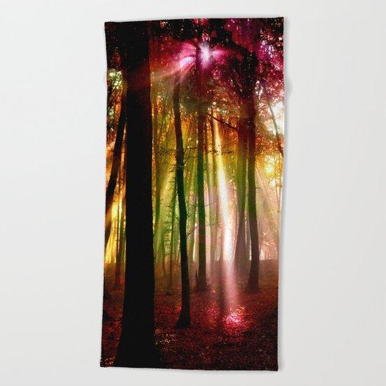 Light beams Beach Towel