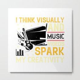 Music Videos Spark My Create Metal Print