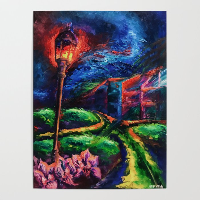 """""""The Crossroad"""" Painting Poster"""