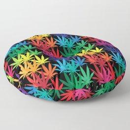 Cannabis Rainbow Floor Pillow