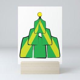 Christmas Rowing tree 2 Mini Art Print