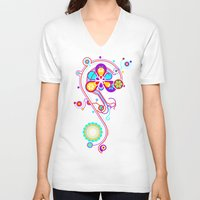 psychedelic V-neck T-shirts featuring Psychedelic by tuditees