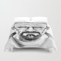 walter white Duvet Covers featuring Walter White by 13 Styx