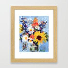 Sunny Day Bouquet Framed Art Print