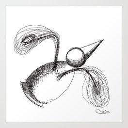 Flying Metaphysical Penguin Art Print