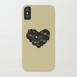 Heart of a Vinyl Lover iPhone Case
