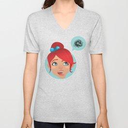 redhead bla Unisex V-Neck