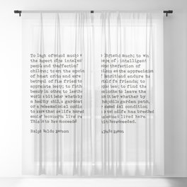 To Laugh Often And Much, Success, Ralph Waldo Emerson Quote. Sheer Curtain