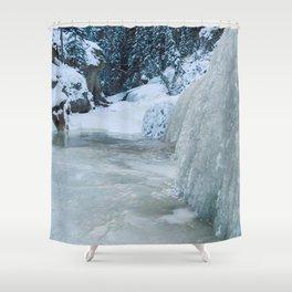 The icewalk in Maligne Canyon, Jasper National Park Shower Curtain