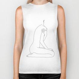 Nude life drawing figure - Cherie Biker Tank