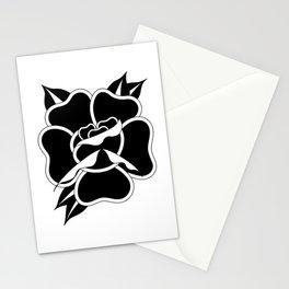 Black Rose I Stationery Cards