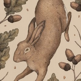 Framed Art Print - The Hare and Oak - Jessica Roux