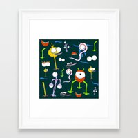 monsters Framed Art Prints featuring MONSTERS!!! by d.ts