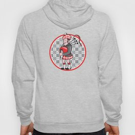 Scotsman Bagpiper Playing Bagpipes Cartoon Hoody