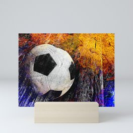 Soccer ball vs 7 Mini Art Print