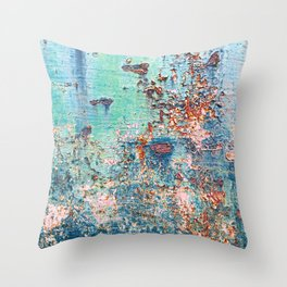 Abstract Rusty Metal Weathered Texture Throw Pillow