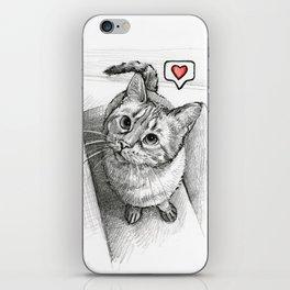 Cute Kitty Cat - Love Me iPhone Skin