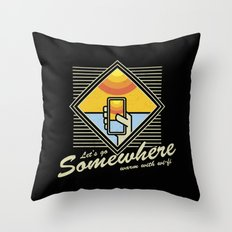 WARM WITH WI-FI Throw Pillow