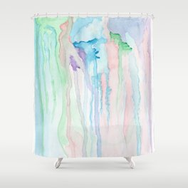 Watercolor Jellies Shower Curtain