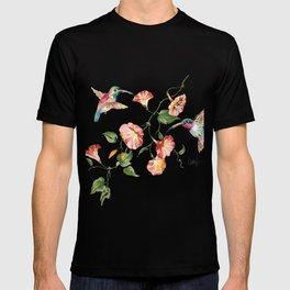 hummingbirds & morning glories T-shirt