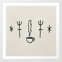 Strong coffee Art Print