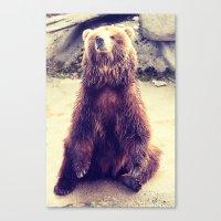 teddy bear Canvas Prints featuring Teddy? by Gato Gris Games