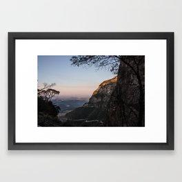 Cold Mountains Framed Art Print