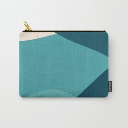 swell ocean and teal Carry-All Pouch