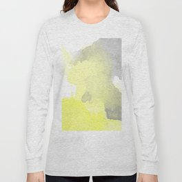 Yellow and Gray Ombre Watercolor  Long Sleeve T-shirt