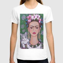 Frida cat lover closer T-shirt