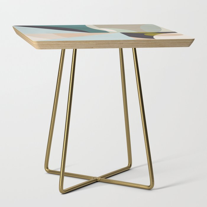 shapes geometric art mid century Side Table