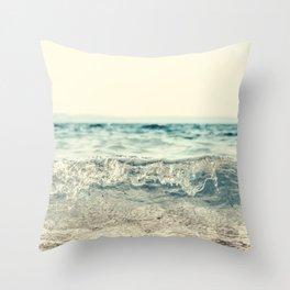 Vintage Waves Throw Pillow
