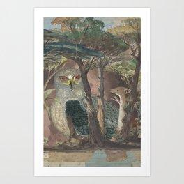 A Hemline of Forest Through Smoke Art Print